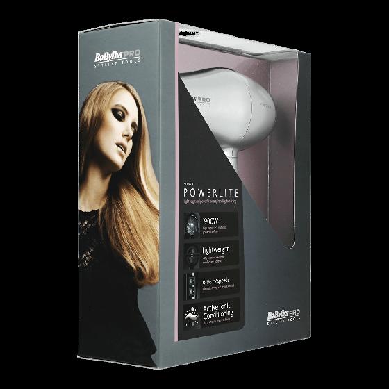 BaByliss Pro PowerLite Hair Silver 1900w Dryer