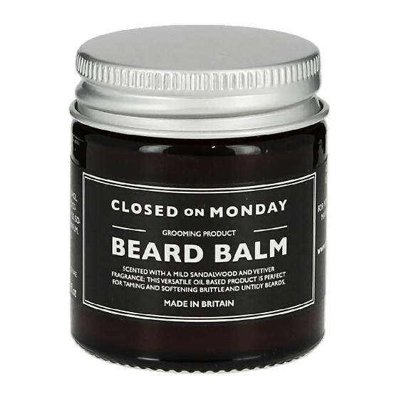 Closed On Monday Sandalwood and Vetiver Beard Balm 30ml