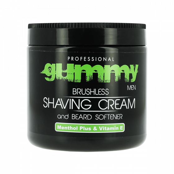 Gummy Men Brushless Shaving Cream and Beard Softener Green 500ml