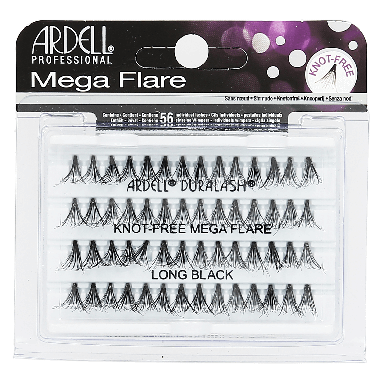 Ardell Mega Flare Individuals Knot Free Long Black