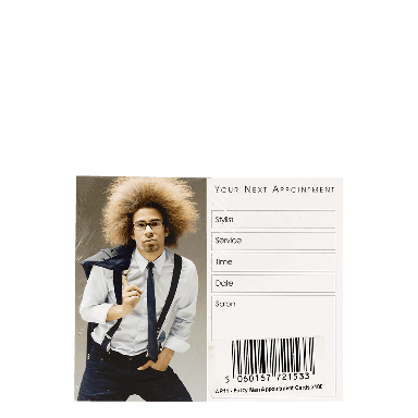 Appointment Cards- AP11 FUZZY MAN CARDS x100