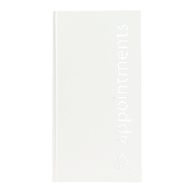 Agenda Salon Concepts Beauty Appointment Book 3 Assistant White