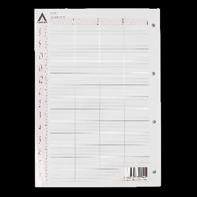 Agenda Salon Concepts Loose Leaf Refill 4 Column 100 Sheets