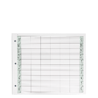 Agenda Salon Concepts Loose Leaf Refill 6 Coloumn 100 Sheets LL6/Z3