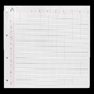 Agenda Salon Concepts Loose Leaf Refill 9 Coloumn 100 Sheets LL9
