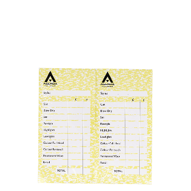 Agenda Salon Concepts Check Pads Yellow 12x100 Leaf