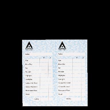 Agenda Salon Concepts Check Pads Blue 12x100 Leaf