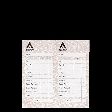 Agenda Salon Concepts Check Pads Beige 12x100 Leaf