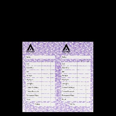 Agenda Salon Concepts Check Pads Mauve 12x100 Leaf
