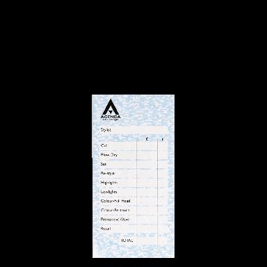 Agenda Salon Concepts Check Pads Blue 6x100 Leaf