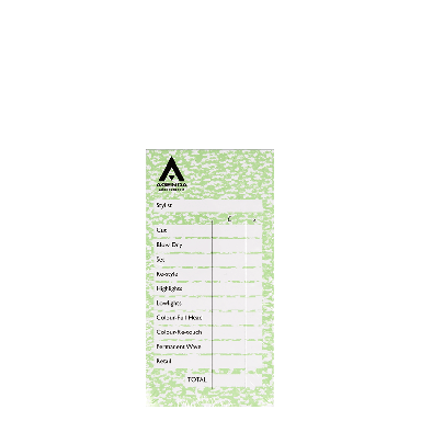 Agenda Salon Concepts Check Pads Green 6x100 Leaf