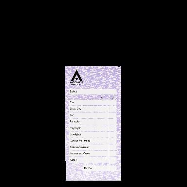 Agenda Salon Concepts Check Pads Mauve 6x100 Leaf