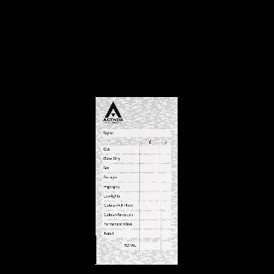 Agenda Salon Concepts Check Pads Grey 6x100 Leaf