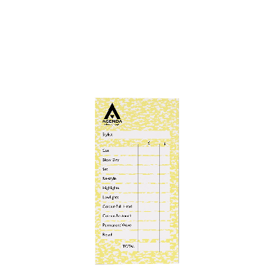 Agenda Salon Concepts Check Pads Yellow 6x100 Leaf