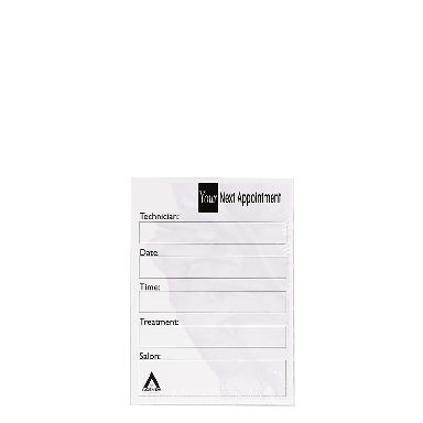 Agenda Salon Concepts Nail Appointment Cards AP8N x100