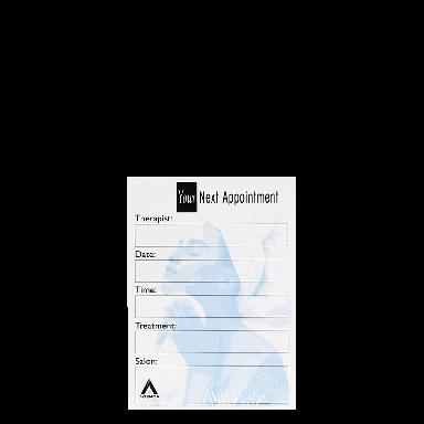 Agenda Salon Concepts Nail Appointment Cards AP7B x100