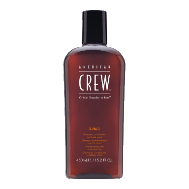 American Crew 3 in 1 Shampoo, Conditioner and Body Wash 250ml