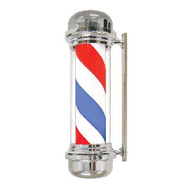 Barber Pole Red/white/blue