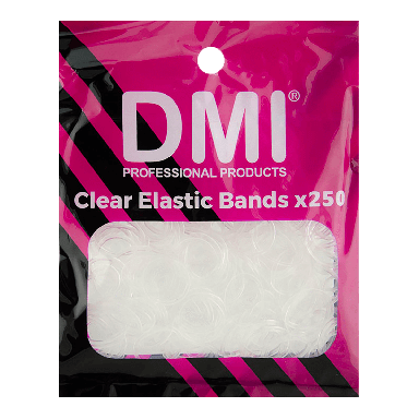 DMI Elastic Bands x 250 - Clear