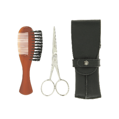 Dovo Beard Care Set in Black Leather Case 806011
