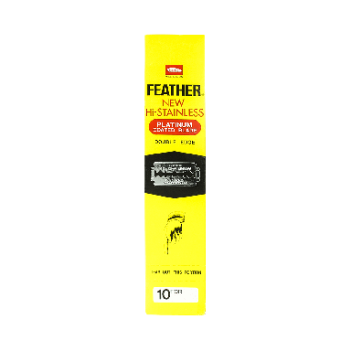 Feather Hi-Stainless Platinum Double Edge Razor Blades (200 Blades)