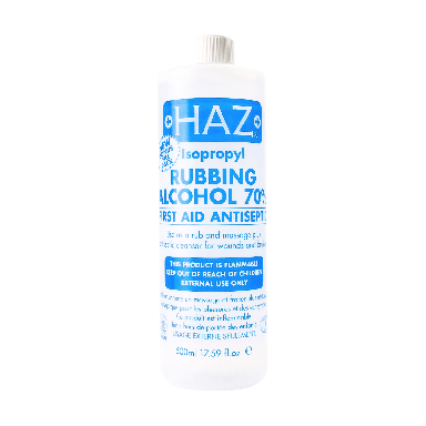 HAZ Isopropyl Rubbing Alcohol First Aid Antiseptic 70% 500ml