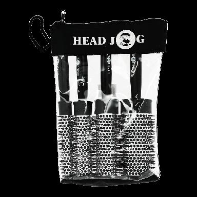 Hairtools Headjog Quad Brush Set Black