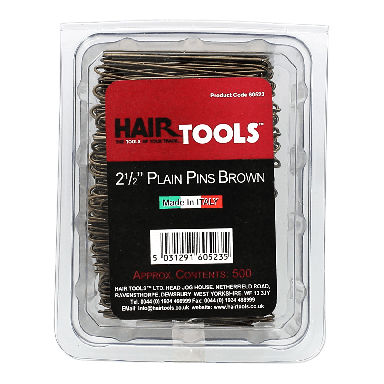 Hairtools 2.5 inch Plain Pins Brown