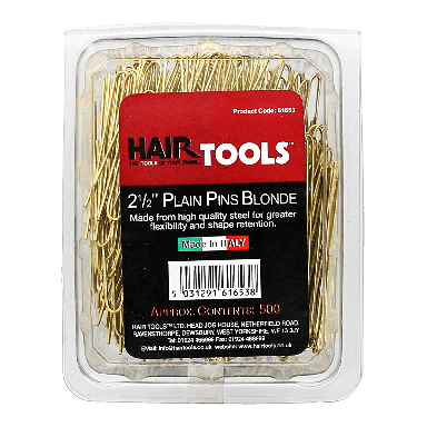 Hairtools 2.5 inch Plain Pins Blonde