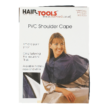 Hairtools PVC Shoulder Cape Black