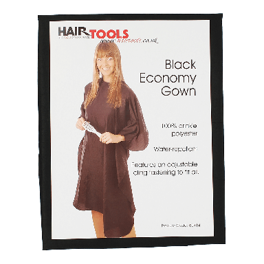 Hairtools Black Nylon Economy Gown