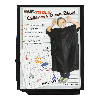 Hairtools Children's Gown Black