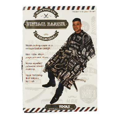 Hairtools Vintage Barber Gown Charcoal