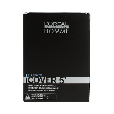 L'Oréal Professionnel Homme Cover 5' Grey Cover No 4 Brown 3 x 50ml