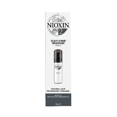 Nioxin System 2 Scalp & Hair Treatment for Natural Hair with Progressed Thinning 100ml