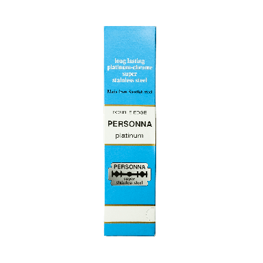 Personna Platinum Chrome Double Edge Razor Blades (200 Blades)