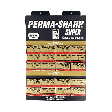 Perma-Sharp Super Double Edge Razor Blades (100 Blades)