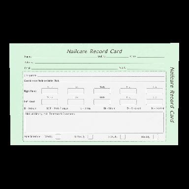 Quirepale Nailcare Record Card