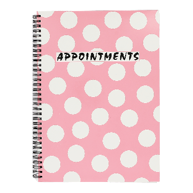 Quirepale 4 Appointments Polka Pink Book