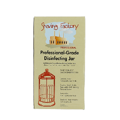 Shaving Factory Professional-Grade Disinfecting Jar (Small)