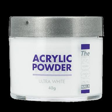 The Edge Nails Acrylic Powder Ultra White 40g