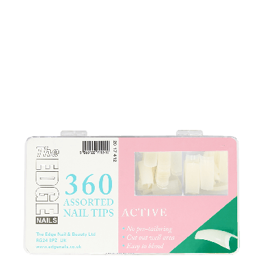 The Edge Nails Active Assorted Nail Tips (360 Pack)