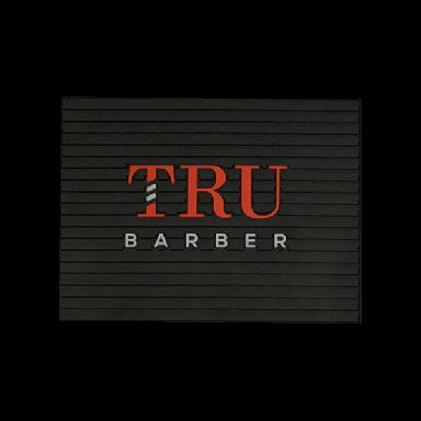 Tru Barber Large Mat Black & Red