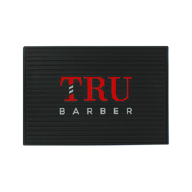 Tru Barber Small Mat Black & Red
