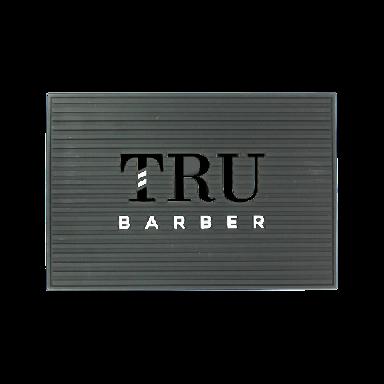 Tru Barber Small Mat Grey & Black