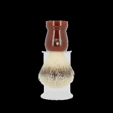 Vie-Long Synthetic Hair Shaving Brush Deep Red