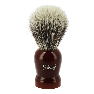 Vie-Long Horse Hair Shaving Brush Rounded Wine Red