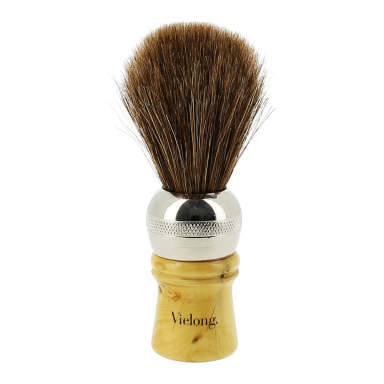 Vie-Long Long Horse Hair Shaving Brush Light Hair
