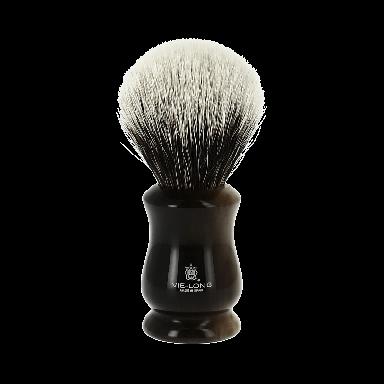 Vie-Long White Badger Hair Brush Black and Cream Swirl