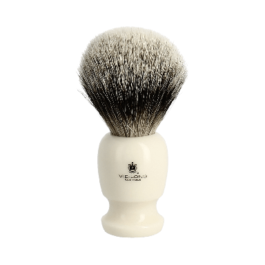 Vie-Long Silvertip Badger Hair Brush and Stand Cream
